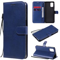 Retro Greek Classic Smooth PU Leather Wallet Phone Case for Samsung Galaxy M31s - Blue