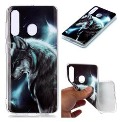 Fierce Wolf Soft TPU Cell Phone Back Cover for Samsung Galaxy M40