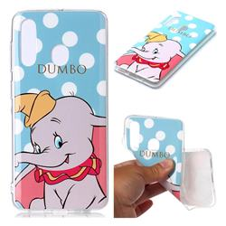 Dumbo Elephant Soft TPU Cell Phone Back Cover for Samsung Galaxy M40