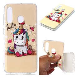 Hello Unicorn Soft TPU Cell Phone Back Cover for Samsung Galaxy M40