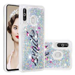 Smile Flower Dynamic Liquid Glitter Quicksand Soft TPU Case for Samsung Galaxy M40
