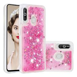 Dynamic Liquid Glitter Quicksand Sequins TPU Phone Case for Samsung Galaxy M40 - Rose