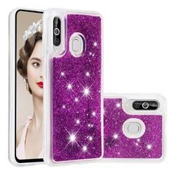 Dynamic Liquid Glitter Quicksand Sequins TPU Phone Case for Samsung Galaxy M40 - Purple
