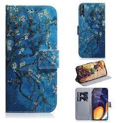 Apricot Tree PU Leather Wallet Case for Samsung Galaxy M40