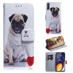 Pug Dog PU Leather Wallet Case for Samsung Galaxy M40