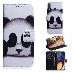 Sleeping Panda PU Leather Wallet Case for Samsung Galaxy M40
