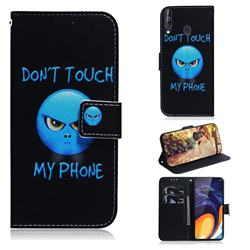Not Touch My Phone PU Leather Wallet Case for Samsung Galaxy M40