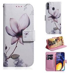 Magnolia Flower PU Leather Wallet Case for Samsung Galaxy M40