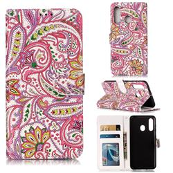 Pepper Flowers 3D Relief Oil PU Leather Wallet Case for Samsung Galaxy M40
