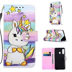Spiral Pony Matte Leather Wallet Phone Case for Samsung Galaxy M40