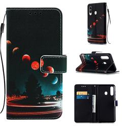 Wandering Earth Matte Leather Wallet Phone Case for Samsung Galaxy M40