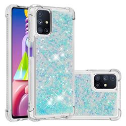 Dynamic Liquid Glitter Sand Quicksand TPU Case for Samsung Galaxy M51 - Silver Blue Star