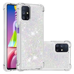 Dynamic Liquid Glitter Sand Quicksand Star TPU Case for Samsung Galaxy M51 - Pink