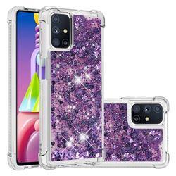 Dynamic Liquid Glitter Sand Quicksand Star TPU Case for Samsung Galaxy M51 - Purple
