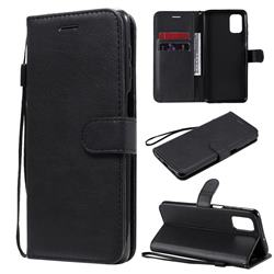 Retro Greek Classic Smooth PU Leather Wallet Phone Case for Samsung Galaxy M51 - Black