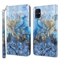 Milky Way Marble 3D Painted Leather Wallet Case for Samsung Galaxy M51