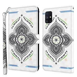 Mandala Totem 3D Painted Leather Wallet Case for Samsung Galaxy M51