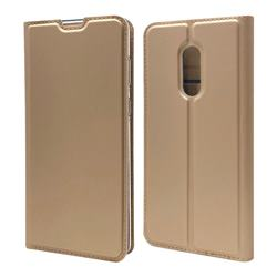 Ultra Slim Card Magnetic Automatic Suction Leather Wallet Case for Sharp AQUOS Zero2 SH-01M - Champagne