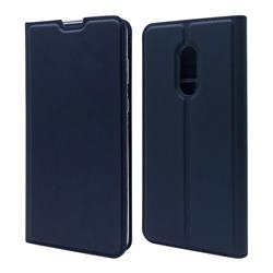 Ultra Slim Card Magnetic Automatic Suction Leather Wallet Case for Sharp AQUOS Zero2 SH-01M - Royal Blue