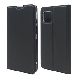 Ultra Slim Card Magnetic Automatic Suction Leather Wallet Case for Sharp AQUOS sense4 SH-41A - Star Grey