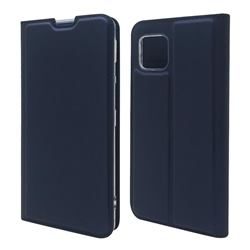 Ultra Slim Card Magnetic Automatic Suction Leather Wallet Case for Sharp AQUOS sense4 SH-41A - Royal Blue
