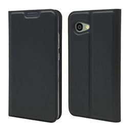 Ultra Slim Card Magnetic Automatic Suction Leather Wallet Case for Sharp Aquos R2 Compact - Star Grey