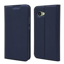 Ultra Slim Card Magnetic Automatic Suction Leather Wallet Case for Sharp Aquos R2 Compact - Royal Blue