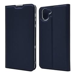 Ultra Slim Card Magnetic Automatic Suction Leather Wallet Case for Sharp AQUOS R3 SHV44 - Royal Blue