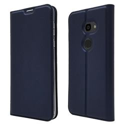 Ultra Slim Card Magnetic Automatic Suction Leather Wallet Case for Sharp Aquos Zero - Royal Blue