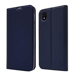 Ultra Slim Card Magnetic Automatic Suction Leather Wallet Case for Sharp AQUOS sense plus SH-M07 - Royal Blue