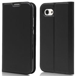 Ultra Slim Card Magnetic Automatic Suction Leather Wallet Case for Sharp AQUOS R Compact SHV41 - Star Grey