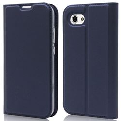 Ultra Slim Card Magnetic Automatic Suction Leather Wallet Case for Sharp AQUOS R Compact SHV41 - Royal Blue