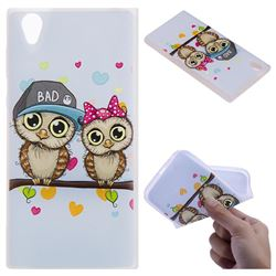 Couple Owls 3D Relief Matte Soft TPU Back Cover for Sony Xperia L1 / Sony E6