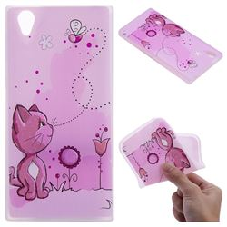 Cat and Bee 3D Relief Matte Soft TPU Back Cover for Sony Xperia L1 / Sony E6