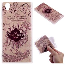 Castle The Marauders Map 3D Relief Matte Soft TPU Back Cover for Sony Xperia L1 / Sony E6