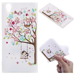 Tree and Girl 3D Relief Matte Soft TPU Back Cover for Sony Xperia L1 / Sony E6