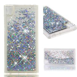 Dynamic Liquid Glitter Quicksand Sequins TPU Phone Case for Sony Xperia L1 / Sony E6 - Silver
