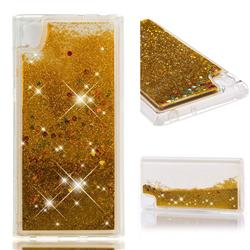 Dynamic Liquid Glitter Quicksand Sequins TPU Phone Case for Sony Xperia L1 / Sony E6 - Golden