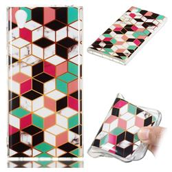 Three-dimensional Square Soft TPU Marble Pattern Phone Case for Sony Xperia L1 / Sony E6
