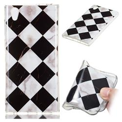 Black and White Matching Soft TPU Marble Pattern Phone Case for Sony Xperia L1 / Sony E6