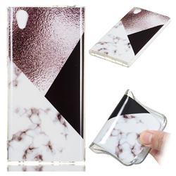 Black white Grey Soft TPU Marble Pattern Phone Case for Sony Xperia L1 / Sony E6