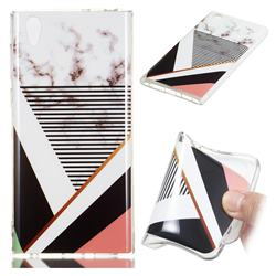 Pinstripe Soft TPU Marble Pattern Phone Case for Sony Xperia L1 / Sony E6