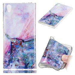 Purple Amber Soft TPU Marble Pattern Phone Case for Sony Xperia L1 / Sony E6
