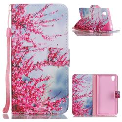 Plum Flower Leather Wallet Phone Case for Sony Xperia L1 / Sony E6