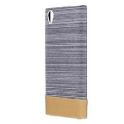 Canvas Cloth Coated Plastic Back Cover for Sony Xperia L1 / Sony E6 - Light Grey
