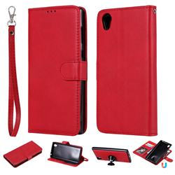 Retro Greek Detachable Magnetic PU Leather Wallet Phone Case for Sony Xperia L1 / Sony E6 - Red