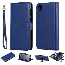 Retro Greek Detachable Magnetic PU Leather Wallet Phone Case for Sony Xperia L1 / Sony E6 - Blue