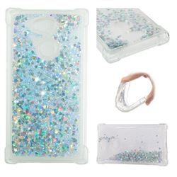 Dynamic Liquid Glitter Sand Quicksand Star TPU Case for Sony Xperia L2 - Silver