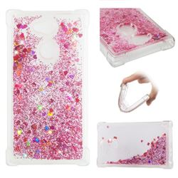 Dynamic Liquid Glitter Sand Quicksand Star TPU Case for Sony Xperia L2 - Diamond Rose