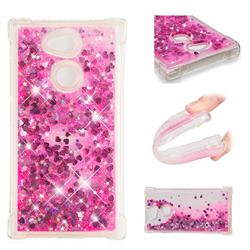 Dynamic Liquid Glitter Sand Quicksand TPU Case for Sony Xperia L2 - Pink Love Heart